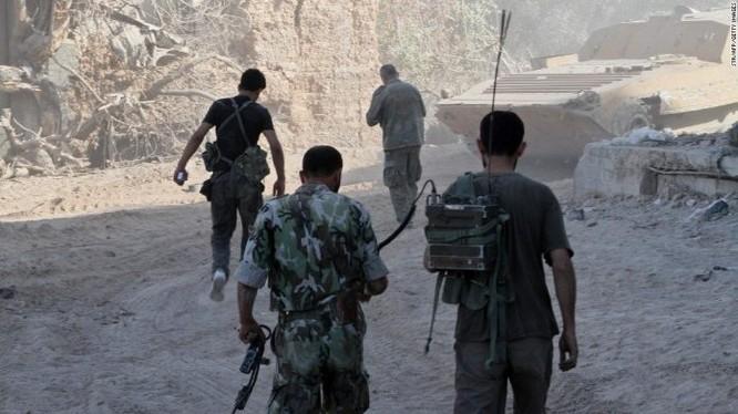 Binh sĩ quân đội Syria trên chiến trường Đông Ghouta - ảnh minh họa Masdar News