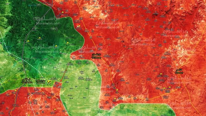 Toàn cảnh chiến trường khu vực Aleppo, Vệ binh Cộng hòa tiến công về hướng sân bay Abu - Al-Duhur - ảnh Muraselon