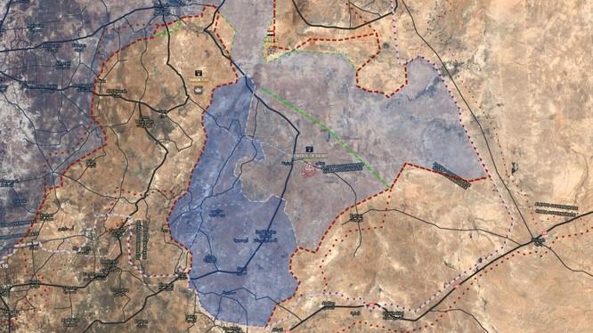 Chiến tuyến chiến trường Aleppo - Idlib gần sân bay Abu Al-Duhur. ảnh South Front