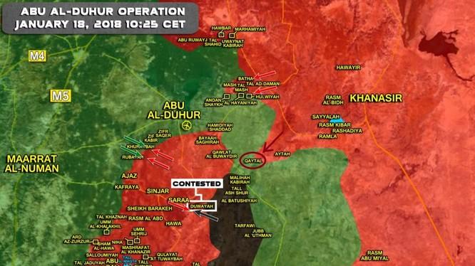 Tổng quan tình hình chiến sự Syria tính đến ngày 18.01.2018 theo South Front