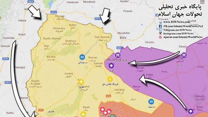 Quân đội Thổ Nhĩ Kỳ và lực lượng FSA bao vây phong tỏa, chuẩn bị tiến công vào khu vực Afrin Caton