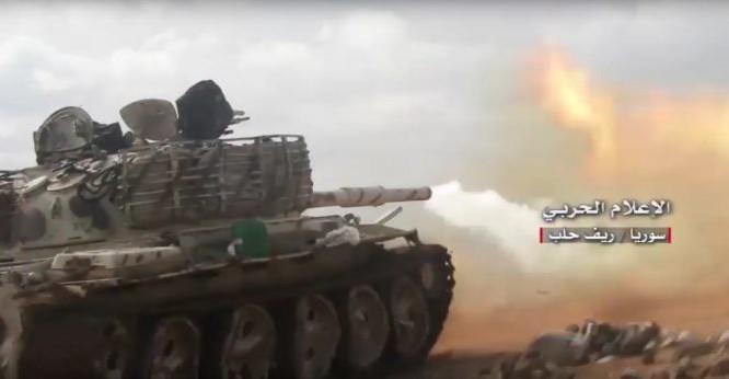 Lực lượng Vệ binh Cộng hòa tấn công trên chiến trường Aleppo - ảnh minh họa video truyền thông Hezbollah