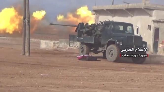 Quân đội Syria tiến công trên chiến trường miền bắc Hama, phía đông nam Idlib - ảnh minh họa Masdar News