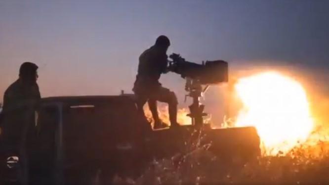 Các chiến binh YPG chiến đấu trên chiến trường Afrin, Aleppo - ảnh minh họa Masdar News