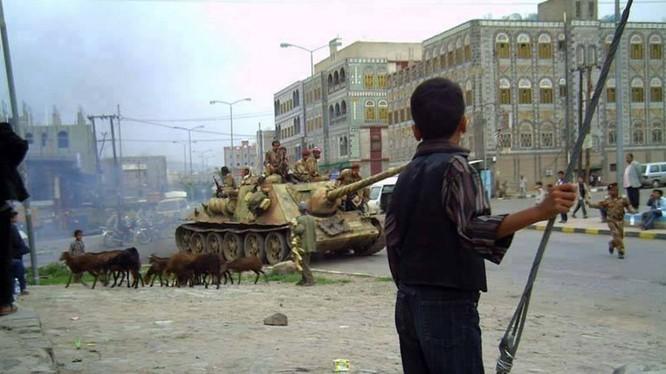 Xe tăng T-34 Yemen trên chiến trường - ảnh minh họa Ukraine War Awareness