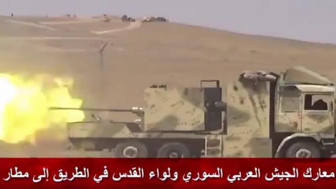 Quân tình nguyện Palestine chiến đấu trên chiến trường Idlib - ảnh minh họa video