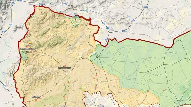 Khu vực Afrin thuộc vùng nông thôn phía bắc Aleppo - ảnh Muraselon