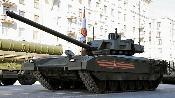 Xe tăng T-14 Armata trên quảng trường Đỏ - ảnh minh họa TV Zvezda