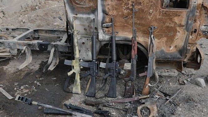 Một số vũ khí thu được sau cuộc tấn công - ảnh quân đội Syria