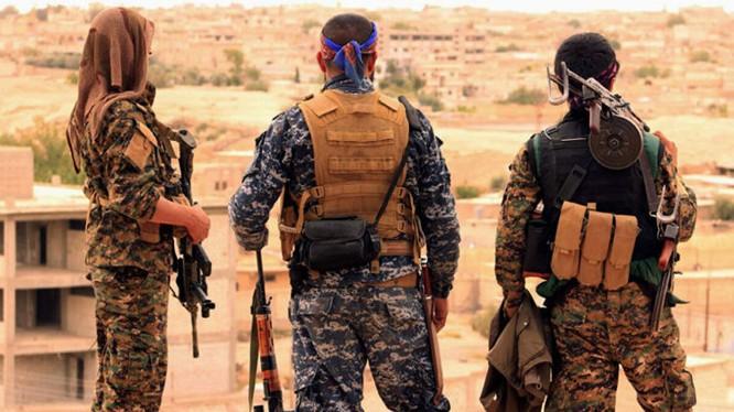 Lực lượng dân quân người Kurd (YPG) trên chiến trường Afrin - Aleppo. Ảnh minh họa Masdar News