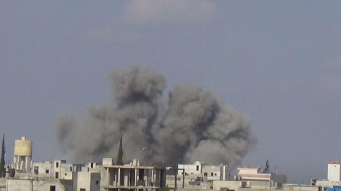 Không quân Nga, Syria không kích dữ dội chiến trường Idlib - ảnh minh họa South Front