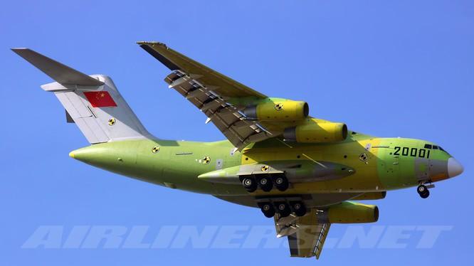 Máy bay vận tải quân sự hạng nặng của Trung Quốc - Xian Y-20. Ảnh minh họa không quân Trung Quốc