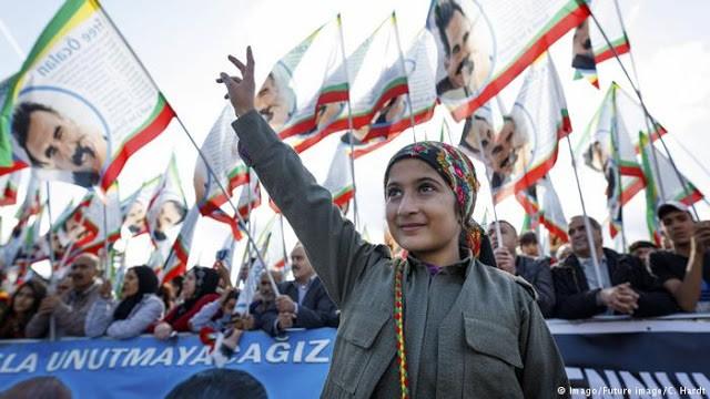 Lực lượng người Kurd biểu tình kêu gọi NATO thiết lập vùng cấm bay ở Syria - ảnh minh họa South Front