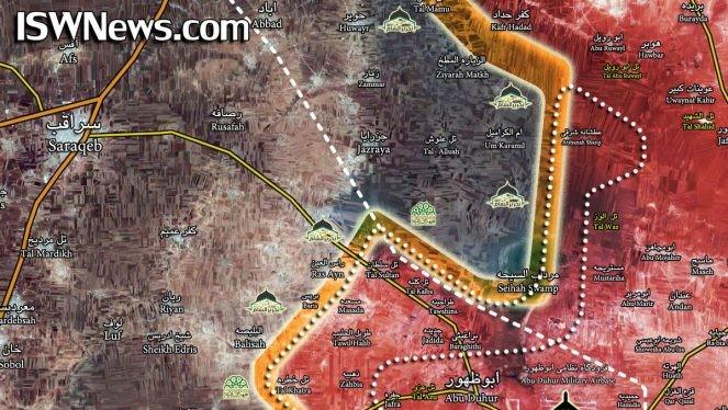 Lực lượng Tiger giải phóng liên tiếp 65 km2 lãnh thổ trên địa phận tỉnh Idlib. Ảnh Masdar News