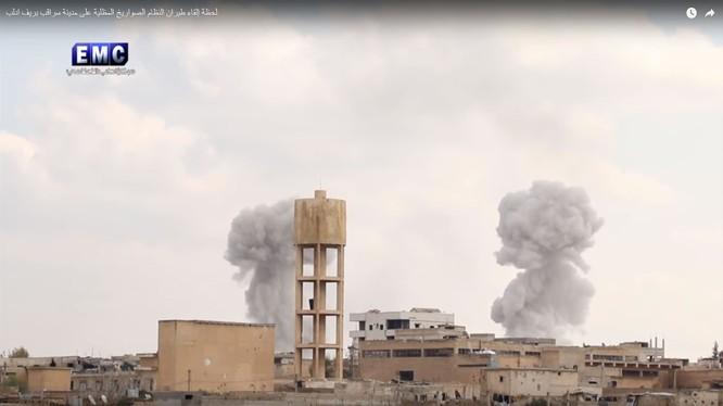 Không quân Nga, Syria không kích mãnh liệt chiến trường tỉnh Idlib - ảnh minh họa Masdar News