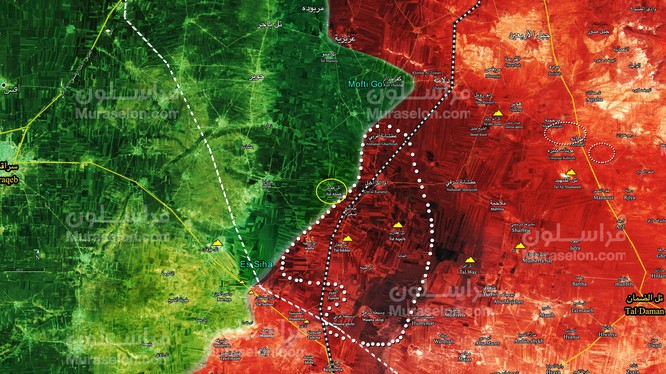 Vùng chiến sự tỉnh Idlib vừa được giải phóng - ảnh Muraselon