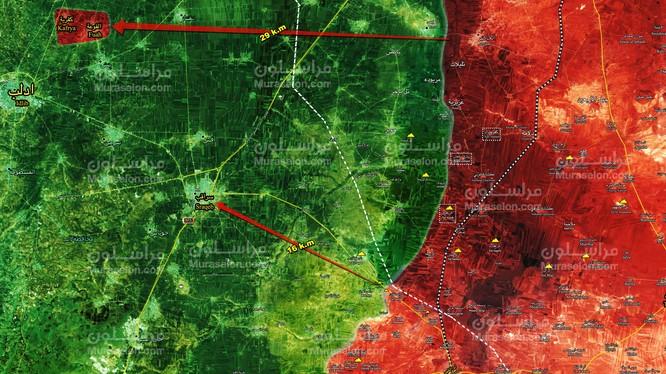 Tình hình chiến sự khu vực tỉnh Idlib - Aleppo. Bản đồ trang Muraselon