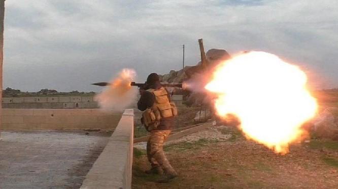 Các tay súng thánh chiến tấn công trên chiến trường tỉnh Idlib. ảnh minh họa Masdar News
