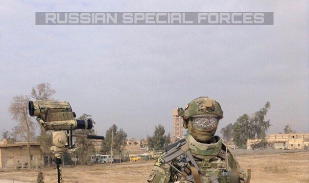 Đặc nhiệm Bộ quốc phòng Nga trên chiến trường Deir Ezzor - ảnh Muraselon