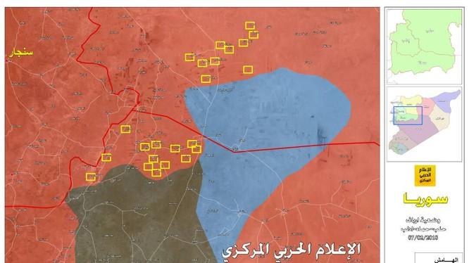 Những địa bàn mới được lực lượng Tiger giải phóng. Ảnh Masdar News