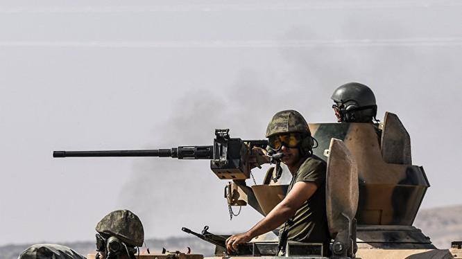 Binh sĩ Thổ Nhĩ Kỳ trên chiến trường Afrin - ảnh minh họa Masdar News