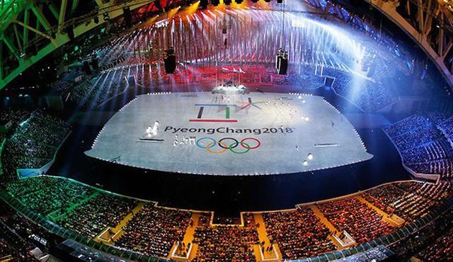 Quang cảnh sân vận động Thế vận hội Mùa đông 2018 - ảnh SBS