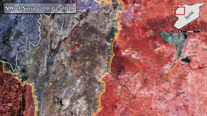 Bản đồ tình hình chiến sự khu vực Idlib - Hama - ảnh South Front