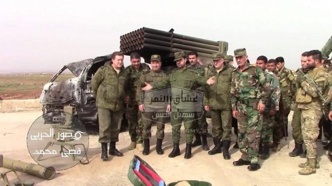 Pháo phản lực Grad thu giữ từ lực lượng khủng bố IS trên chiến trường Hama. Ảnh minh họa quân đội Syria