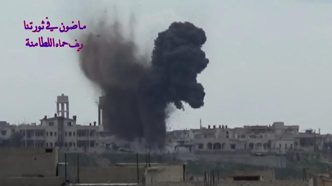 Không quân Nga không kích dữ dội phiến quân ở Hama - ảnh minh họa Masdar News