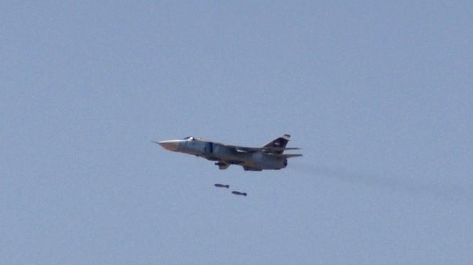 Không quân Syria không kích vùng đông bắc Hama - ảnh minh họa Masdar News