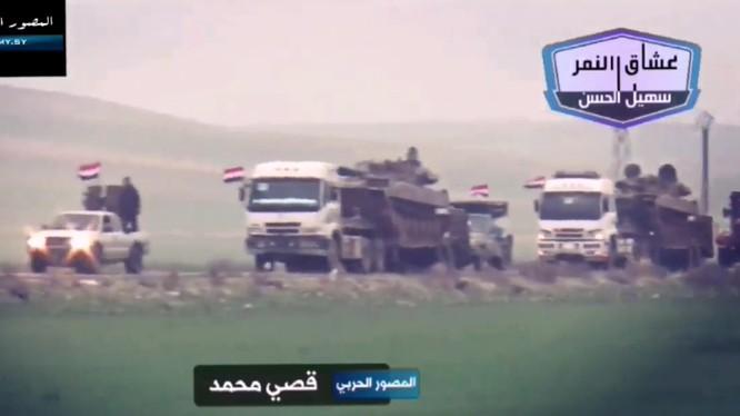 Lực lượng Tiger cơ động hành quân về Damascus - ảnh minh họa video