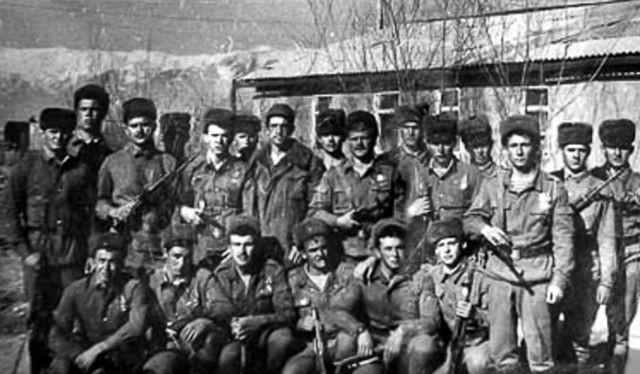 Những lính đặc nhiệm dù đại đội 9 Trung đoàn 345. ảnh lịch sử Bộ quốc phòng Nga