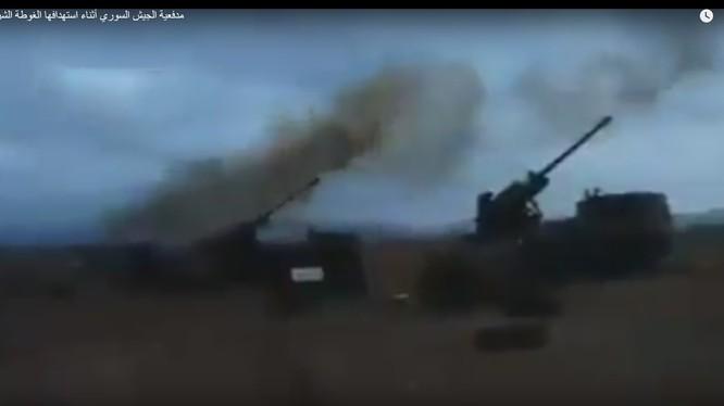 Pháo binh quân đội Syria bắn phá chiến tuyến phiến quân ở Đông Ghouta - ảnh minh họa video