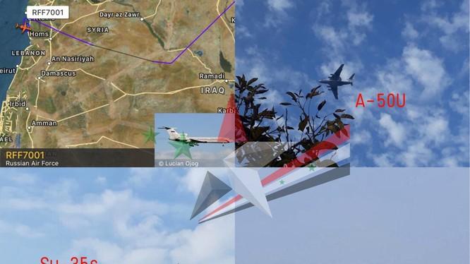 Các máy bay chiến đấu mới Nga đến Syria - ảnh minh họa tài khoản mạng xã hội @WaelAlHussaini