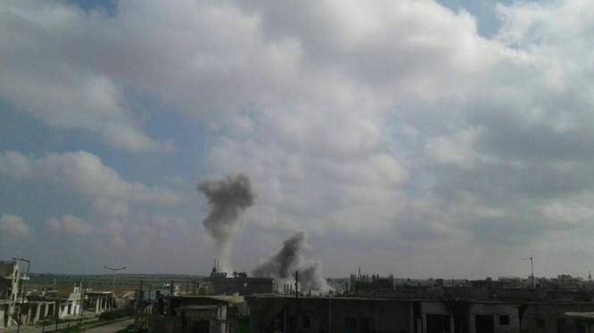 Không quân Nga không kích vùng nông thôn miền bắc Hama - ảnh minh họa video