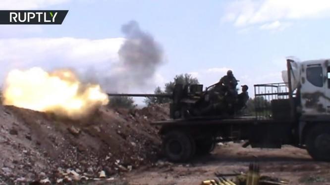 Binh sĩ quân đội Syria chiến đấu trên cao nguyên Golan - ảnh minh họa South Front