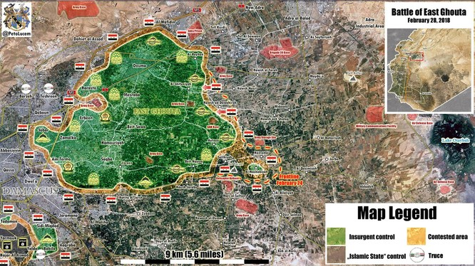 Tình hình chiến sự khu vực Đông Ghouta, các mũi tiến công của quân đội Syria - ảnh minh họa Masdar News