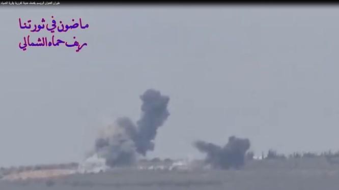 Không quân Nga không kích ác liệt Hama, ảnh minh họa video