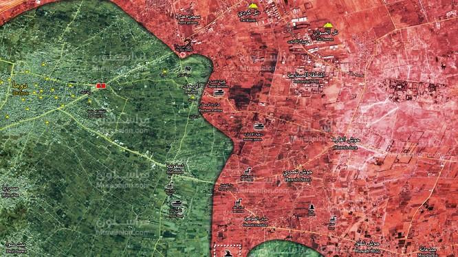 Lực lượng Tiger tấn công giải phóng căn cứ phòng không Pechora ở Đông Ghouta - ảnh Muraselon