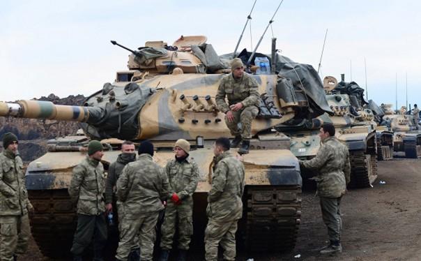 Xe tăng quân đội Thổ Nhĩ Kỳ trên chiến trường Afrin - ảnh minh họa South Front