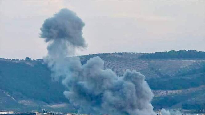 Hiện trường vụ không kích của không quân Thổ Nhĩ Kỳ, đánh vào vị trí của lực lượng NDF Syria