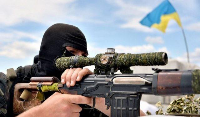 Xạ thủ bắn tỉa Ukraina, ảnh minh họa truyền thông ATO