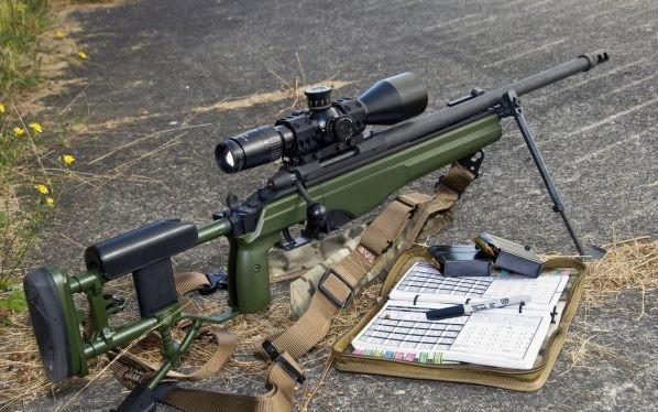 Khẩu súng bắn tỉa hiện đại do Phần Lan sản xuất được chiến binh dân quân Donbass mua lại từ quân đội Kiev - ảnh VoiceNovorossia