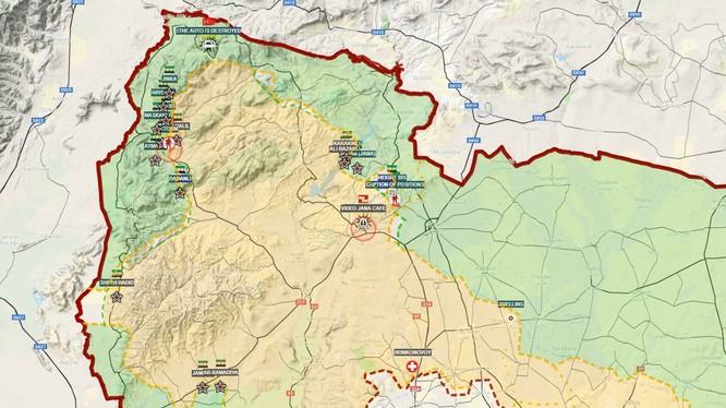 Tình hình khu vực chiến sự Afrin tính đến ngày 03.03.2018 theo South Front