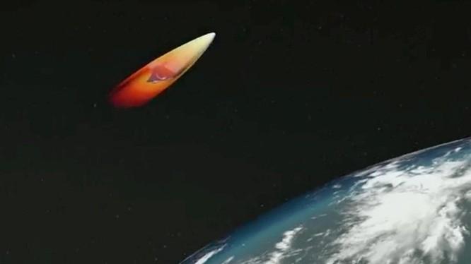 Tên lửa Avangard, ảnh minh họa video