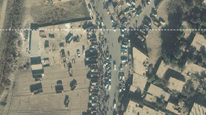 Lực lượng khủng bố IS cơ động di chuyển từ Raqqa về Deir Ezzor - ảnh Masdar News