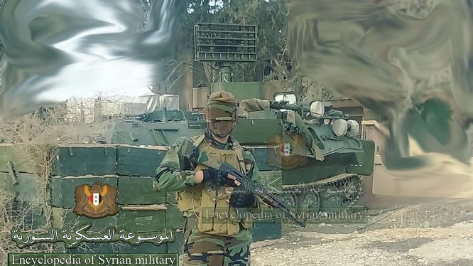 Ảnh đài radar cỡ nhỏ trên xe bánh xích MT-LB ở Syria - tài khoản Twitter @Syr_Mil_Wik