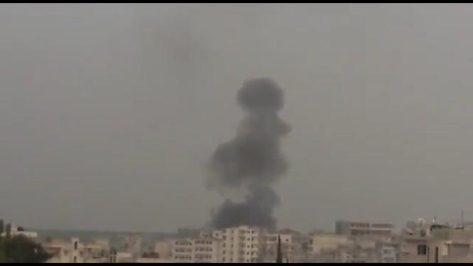 Không quân Nga không kích chiến binh Duy Ngô Nhĩ thành phố Jisr ash-Shugur thuộc địa phận tỉnh Idlib