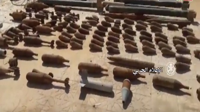 Một số vũ khí đạn dược thu giữ được từ IS ở Deir Ezzor