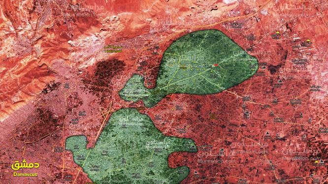 Lực lượng Tiger chia cắt khu vực Đông Ghouta thành 2 vùng bao vây- ảnh Muraselon
